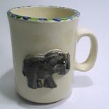 Relieftasse Elefant