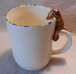 Tasse mit Henkelhocker Hund