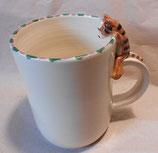 Tasse mit Henkelhocker braune Katze