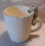 Tasse mit Henkelhocker Zebra