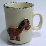 Relieftasse Pferd