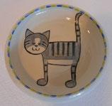 Kinderteller graue Katze