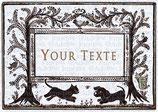 Etiq. digitales texte personnalisable - Planche des chiens des chats, des fleurs