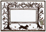 Etiquettes digitales vierges - planche III - for the Cat's lovers et c'est tout ! des fleurs