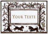 Etiquettes digitales texte personnalisable - Planche des chiens des chats, des fleurs !