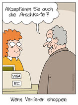 "Cartoon ""Arschkarte"""