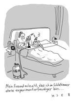 """Cartoon """"Experimentierfreudig"""" von BeCK"""