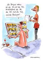 """Cartoon """"Vorspiel"""" von Erich Rauschenbach"""