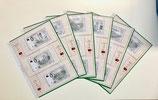 Folhas EURO SOUVENIR PORTUGAL para as notas de 0€ Portugueses