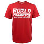 Michael Schumacher T-Shirt Rood 7 times World Champiuon