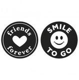 Eingießlabel FRIENDS FOREVER - SMILE TO GO