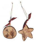 Rayher Holz-Anhänger Stern und Scheibe