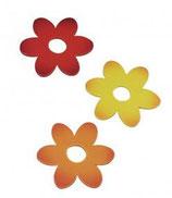 Holz-Blüten 7 cm