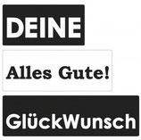 Eingießlabel GLÜCKWUNSCH - ALLES GUTE - DEINE