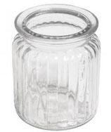 Glasgefäß Rillen