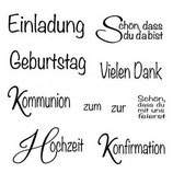 Silikonstempel Clear Stamp Anlass 1