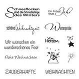 Silikonstempel Clear Stamp Weihnachten / Winter