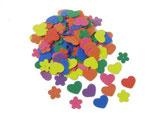 Glorex Moosgummi-Set Herzen und Blumen