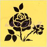 ボディアート用ステンシル【バラ】No.2 カットライン
