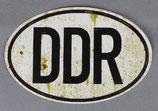 Aufkleber DDR Länderkennzeichen mit Patina