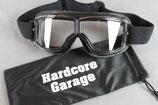 "Motorradbrille ""Cafe Racer Premium"" schwarz"