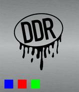 Aufkleber DDR mit Farbnasen