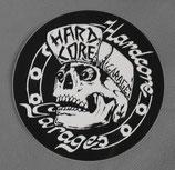 """Aufkleber """"Hardcore Garage"""" 9,5cm schwarz/transparent"""