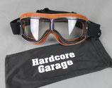 "Motorradbrille ""Cafe Racer Premium"" braun"