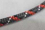 Textilzündkabel schwarz/rot/weiß