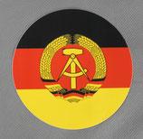 Aufkleber DDR Flagge rund 9,5cm