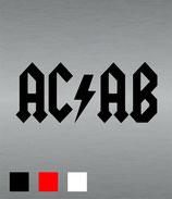 "Aufkleber ""AC/AB"""