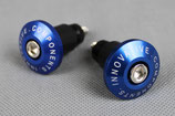 Lenkerenden für 22mm-Lenker blau