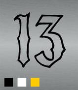 "Aufkleber ""13"""