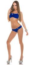 Sexy Neckholder Bikini mit Schleife und Strass