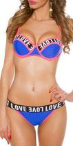 Sexy Bikini LOVE abnehnbare Träger
