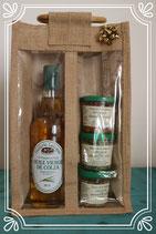 Coffret de spécialités aux graines de colza et une bouteille d'huile nature 50cl