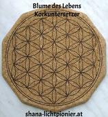 """Korkuntersetzer """"Blume des Lebens"""""""