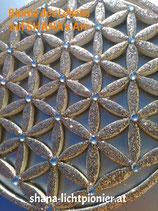 20 cm-Oberflächen-veredelt mit Acryl-Diamanten - Blume des Lebens
