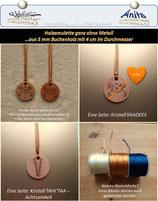 SHADEES und TAHI'TAA .........Holz-Amulett 4 cm