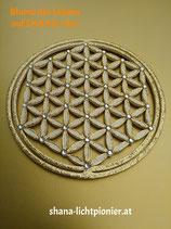 20 cm - Blume des Lebens - Randglitter/Veredelung - mit Acryl-Diamanten