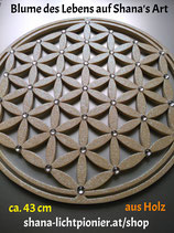 43 cm-Vollveredelt - Blume des Lebens mit Acryl-Diamanten