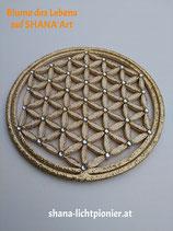 ca. 17,5 cm - Blume des Lebens - Randglitter/Veredelung - mit Acryl-Diamanten