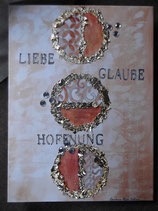 "Leinwandbild ""GLAUBE, LIEBE, HOFFNUNG"""