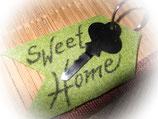 """Filz Schlüsselanhänger """"Sweet Home"""" (mit Deko-Schlüssel)"""