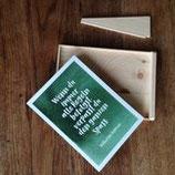 """Postkarten für """"Nachhaltigkeit on a Buget"""" MIT Kartenhalter"""