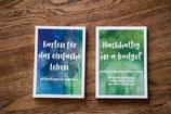 Beide Kartensets Einfaches Leben/Nachhaltig-on-a-budget - MIT Kartenhalter