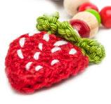 Schnullerkette ☆ Erdbeerchen rot ☆