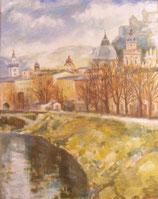 """Salzburg"" Artist Alexander Surikov. Guaranteed Original painting Acrylic. 100 x 80 cm. Acrylic on canvas"