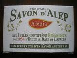 Savon d'Alep aux huiles certifiées bio dont 25% d'huile de Baie de Laurier