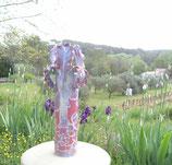 Vase Iris fuschia
